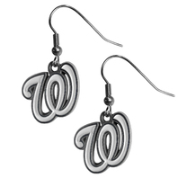 Washington Nationals Dangle Fish Hook Earrings NEW in Package MLB Licensed