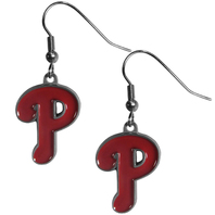 Philadelphia Phillies Dangle Fish Hook Earrings NEW in Package MLB Licensed
