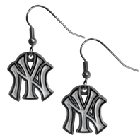 New York Yankees Dangle Fish Hook Earrings NEW In Package Official MLB Licensed