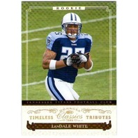 LenDALE WHITE Donruss Classics Timeless Tributes Gold Rookie Parallel 10/25 Card