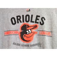 Majestic Baltimore Orioles Light Gray Graphic T-Shirt Size XL Baseball MLB