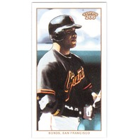 BARRY BONDS 2002 Topps 206 Piedmont Red #238A Mini Card Black Jersey