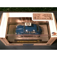 1967 VW BEETLE DELUXE EUROPEAN MODEL Blue M2 AUTO-THENTICS LIMITED RUBBER TIRES 1/64