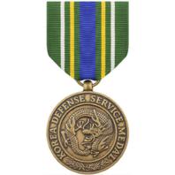 Vanguard Full Size Korea Defense Service Medal Award
