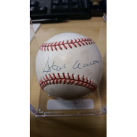 HANK AARON Autographed Baseball UDA# UDY20873
