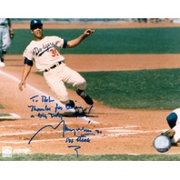 MAURY WILLS Signed Photograph Photo Autograph Auto Inscription To Rob Dodgers