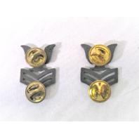 US Navy Petty Officer E6 Collar Device Rank Insignia Pair
