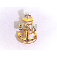 US Navy Senior Chief Petty Officer E8 Pin Back Collar Device - 1 Pin