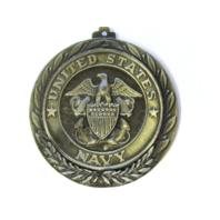 """US Navy USN Heavy 2-3/8"""" Medal Medallion No Ribbon"""
