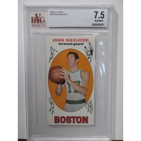 JOHN HAVLICEK Topps 1969-70 Rookie Card #20 RC Graded BVG 7.5 NM-MT+