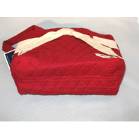 2 Collegiate Collection Oklahoma University Quilted Red Tote Purse Bag NWT