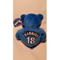 "#18 PEYTON MANNING 1998 Limited Treasures Indianapolis Colts 9"" Blue Bear w/Tag"