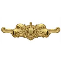 "Vanguard Regulation Size Cutterman Officer Badge (Coast Guard-USCG) W:2 ½""xH:¾"""