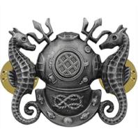 Vanguard Regulation Size Master Diver Badge Oxidized (Navy)