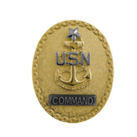 Vanguard Navy ID Badge: Master Enlisted Adviser E8 Command CPO - Regulation Size