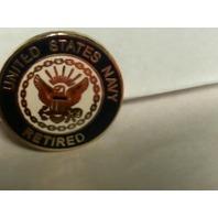 US Navy Retired Lapel Pin - OOP