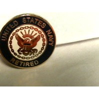 US Navy Retired Lapel Pin