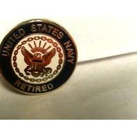 US Navy Retired Lapel Pin