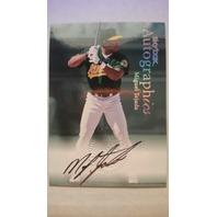 Miguel Tejada 2000 SkyBox Autographics #120 Autograph Auto