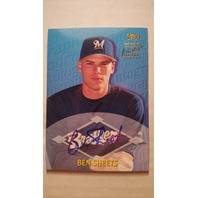 Ben Sheets 2000 Topps Traded Autographs #TTA10 Autograph Auto On Card