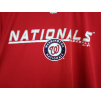 Majestic Washington Nationals Red Graphic Polyester T-Shirt Size L Baseball