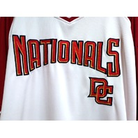 Stitches Washington Nationals Red & White Jersey Shirt Size 2XL MLB Baseball