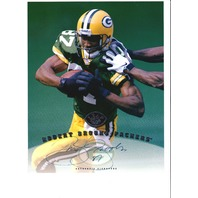 1997 Leaf Authentic Signature 8x10 Card Robert Brooks Green Bay Packers Auto
