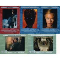 TERMINATOR 3 RISE OF THE MACHINES 2003 PREVIEW SET OF 5 FILM CARDZ CARDS
