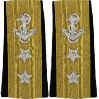 Vanguard Navy Shoulder Board Line Rear Admiral Upper Half Two Star Insignia-Male