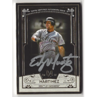 EDGAR MARTINEZ 2016 Museum Collection Gold Framed *Silver Ink Autograph /15 auto