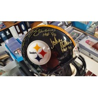 John Stallworth Jack Ham Lambert Autograph Full Size Authentic Helmet JSA Signed