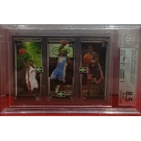 Lebron JAMES/Carmello ANTHONY/Dwayne WADE 2003-04 Rookie RC Matrix #JAW BGS 8.5
