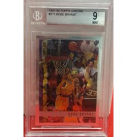 KOBE BRYANT 1997-98 Topps Chrome #171 Graded BGS 9 Lakers