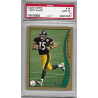 HINES WARD 1998 Topps Draft Picks RC #341 PSA 10 GEM MT Pittsburgh Steelers