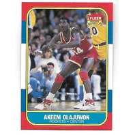 HAKEEM OLAJUWON 1986-87 Fleer  Rookie RC #82 Houston Rockets (akeem)