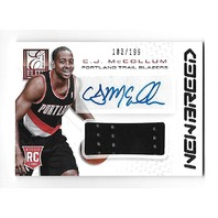 C.J. MCCOLLUM 2013-14 Panini Elite New Breed RC auto patch /199 Trailblazers