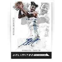 KENNETH FARIED 2012-13 Panini Limited Unlimited Potential auto/199 Autograph