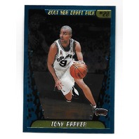 TONY PARKER 2001-02 Topps Chrome Rookie RC Card #155 San Antonio Spurs