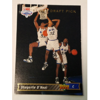 SHAQUILLE O'NEAL 1992-93 Upper Deck #1 Draft Pick Rookie RC #1 Orlando Magic