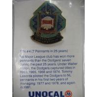 LA Dodgers Baseball The National League Club Seven Pennants Pin #4 NEW* UNOCAL76