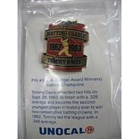 LA Dodgers Baseball Batting Champ 1962-1963 Tommy Davis Pin #5 NEW* UNOCAL76