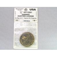 US Air Force USAF Varmint Hunting License 9/11/01 Terrorist Hunting Season Coin