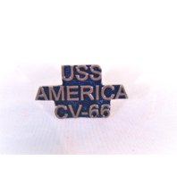 USS America CV-66 Ship Name Lapel Pin