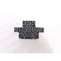USS Kitty Hawk CV-63 Ship Name Lapel Pin