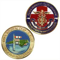 """Vanguard COIN: 1 3/4"""" NAVAL HOSPITAL CAMP LEJEUNE"""