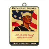 Vanguard ORNAMENT: NAVY POSTER - REMEMBER