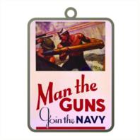 Vanguard ORNAMENT: NAVY POSTER - MAN THE GUNS