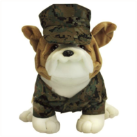 """Vanguard MARINE CORPS CHESTY BULLDOG IN WOODLAND MARPAT WITH COVER 13"""""""