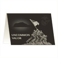 Vanguard MARINE CORPS GREETING CARD - UNCOMMON VALOR