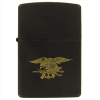Vanguard ZIPPO LIGHTER: BLACK WITH GOLD SPECIAL WARFARE SEAL